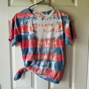 Gildan Youth Large Tie Dye Patriotic 4th of July